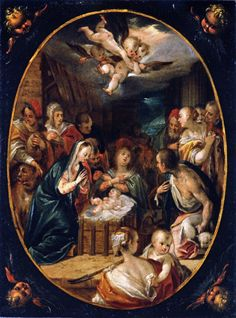 The Athenaeum - The Adoration of Shepherds (Hans von Aachen - )