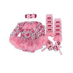 New Summer Cute Spot Newborn Infant Baby Girls Clothing Suits Headband Romper Dress Shoes Kids Rompers Clothes Set (6 Asin: B00X9IWBJI Ean: 6613424974679