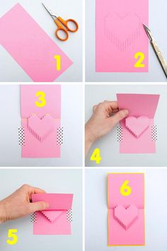 diy pop up valentine's day cards