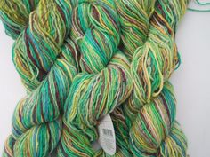 Noro Shiraito Yarn 3 Sks Angora Cashmere Fingering Luxury Col 24 Lime, Green #Noro #HandDyed