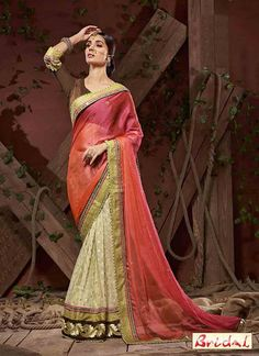 Sarees Online: Buy Off White Silk Georgette Designer Embroidery Saree At Best Price On Variation. Huge Collection Of Designer Sarees, Party Wear Sarees, Wedding Sarees And Printed Sarees For Women. Shipping Worldwide Including India, Usa, Uk And Canada. Fancy Sarees, Party Wear Sarees, Indian Bridal Sarees, Sari Design, Sari Dress, Bollywood Dress, Ethnic Sarees, Embroidery Saree, Latest Designer Sarees