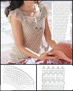 Crochet Shirt, Crochet Cardigan, Crochet Top, Crochet Clothes, Crochet Patterns, Crop Tops, How To Wear, Women, Dresses