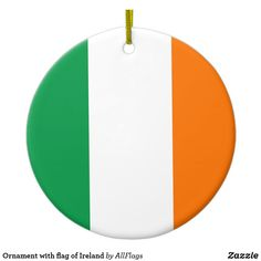 Shop Ornament with flag of Ireland created by AllFlags. Family Photos, Ireland, Flag, Bring It On, Ornaments, Christmas, Design, Family Pictures, Xmas