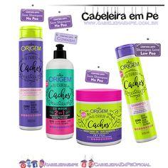 Linha Eu Escolho Cachos Nazca: Shampoo (Low Poo), Condicionador (No Poo), Máscara (No Poo) e Cowash (No Poo)
