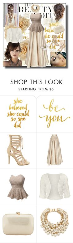"""Wedding Outfit 1"" by sheri-gifford-pauline ❤ liked on Polyvore featuring Clips, Jenny Packham, LE3NO, Disney, WearAll, Serpui, Kate Spade, wedding and WeddingOutfit"