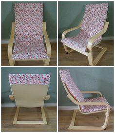 Tutorial bekleding ikea-stoel. Ik zou persoonlijk de overslag op de rug iets verder laten doorlopen