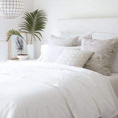 A white bed on a summer afternoon. #serenaandlily