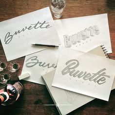 Buvette lettering by maztrone