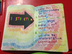 wreck this journal. Instructions page