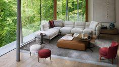 Flexform adopts colours inspired by Giorgio Morandi's paintings for Adda sofas