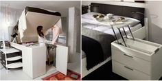 These clever items will make your space more tranquil and relaxing. I would love to have that tray-in-the-nightstand!