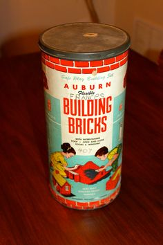 Vintage midcentury Auburn Building Bricks toy 1950s no. 407 Auburn Rubber Co., by poetsy, $22.00