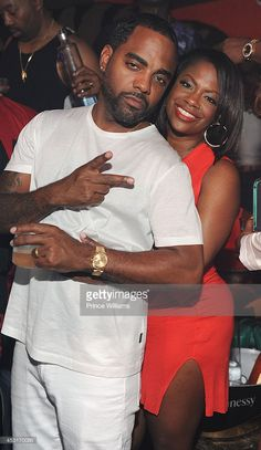 Todd Tucker and Kandi Burrus attend party hosted by Kandi Burruss, Porsha Williams, & Toya Wright at Aroma Lounge on August 3, 2014 in Atlanta, Georgia.