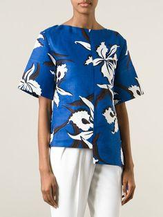 Women - Marni Floral Print Top - Tessabit.com – Luxury Fashion For Men and Women: Shipping Worldwide