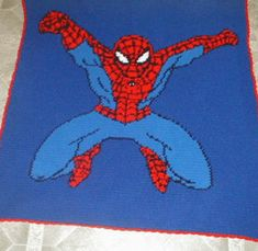 Crochet+Pattern+for+Spider-Man+Blanket   Yes it can be done. You can crochet beautiful afghans like these from ...