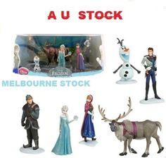 6pcs Disney Frozen Figure Cake Topper Toy Anna Elsa Olaf Hans Sven Kristoff