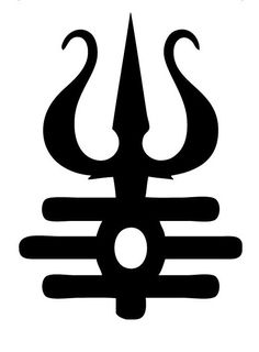 """Trishula """"Shiva's Trident"""" - destroys all three kinds of suffering (physical, spiritual and ethereal) Hindu Symbols, Sacred Symbols, Ancient Symbols, Positive Symbols, Mayan Symbols, Viking Symbols, Egyptian Symbols, Viking Runes, Hindu Tattoos"""