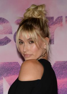 June 19: [HQs] Hailey Baldwin poses in the press room at the 2016 iHeartRADIO MuchMusic Video Awards in Toronto, Canada