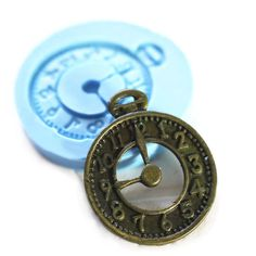 Clock Charm 25mm Bakery Silicone  Flexible Push Mold 141s* BEST QUALITY by AliceCraftWonderland on Etsy https://www.etsy.com/listing/87823391/clock-charm-25mm-bakery-silicone