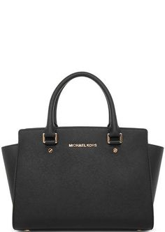 26c31b021b57 Черная кожаная сумка с короткими ручками 30S3GLMS2L 001 black застегивается  на молнию, купить в интернет-магазине. Цена: 28100