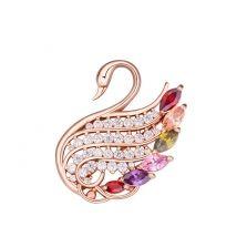 Kecses hattyú 2.- Swarovski kristályos bross - színes Dress Suits, Jewelry Sets, Brooch Pin, Heart Ring, Swarovski, Rings, Accessories, Women, Formal Suits