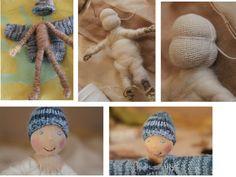 Wolle und Puppenkinder: Biegepuppen herstellen