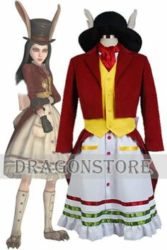 Alice Madness Returns Lucky Rabbit Cosplay Costume Female S