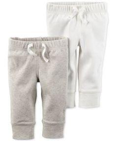 Carter's Baby Boys' or Baby Girls' 2-Pack Drawstring Pants