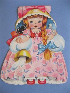 greeting card doll