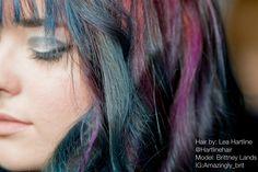 #Kenracolorcreative, #Kenra, #purplehair, #bluehair, #creativecolor #hair, #brittneylands, #hartlinehair — with @brittneylands @kenra
