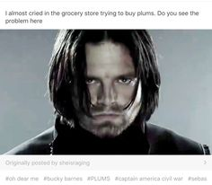 Now every time I see plums, I can't help but think of Bucky. Oh, Bucky.