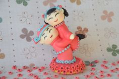 Edible 3D Wedding Cake Fondant Topper  by BiboDecosArtToppers