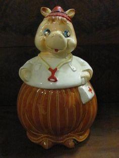 Vintage Cookie Jars For Sale American Bisque Cow Cookie Jarfor Sale At More Than Mccoy On Tias