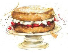 M & S Cookery Bible Illustrations by Georgina Luck, via Behance Cupcake Illustration, Watercolour Illustration, Georgina Luck, Juan Sanchez Cotan, Logo Doce, Watercolor Cake, Watercolor Artists, Bible Illustrations, Food Drawing