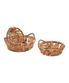 Take a look at this Light Willow Tray Set by Wilco on #zulily today!