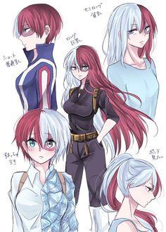 My Hero Academia // BNHA // Shoto Todoroki // Genderbend