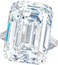 Ronald Abram – 50 carat Emerald Cut D Flawless Diamond Ring