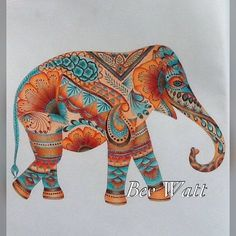 Milliemarotta Colouring Colouringin Elephant Prismacolor Coloring