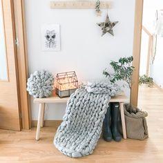 Entrance with merino wool xxl blanket Nordic Home, Merino Wool, Entrance, Blanket, Photo And Video, Instagram, Decor, Entryway, Decoration