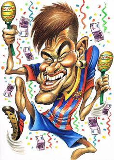 Neymar por Joan Vizcarra