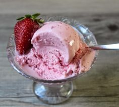 """Many people consider this type of strawberry ice cream recipe a """"hack"""" or a """"cheat,"""" because we're skipping the more time-consuming and so..."""