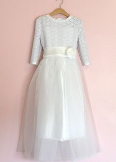 Reserved Listing for Sonia Deposit  for First Communion dress. $100.00, via Etsy.