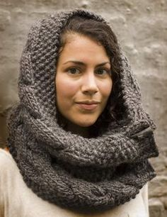 Grey Owl Cowl by Juju Vail