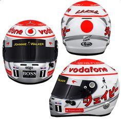 0042506205512 Jenson Button s Racing Helmet - F1 2011 Japanese GP