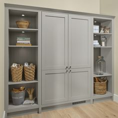Chilcomb Pebble Utility Room Are you after utility room ideas? Use our Chilcomb Pebble kitchen cabin Boot Room Utility, Small Utility Room, Utility Storage Cabinet, Utility Room Designs, Utility Cupboard, Laundry Room Storage, Living Room Storage, Laundry Room Design, Storage Cabinets
