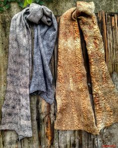 Nuno felt, silk, ecoprint,  Merino Textiles, Nuno Felting, Cowls, Scarves, Wraps, Silk, Fashion, Textile Design, Felting