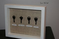 A unique way to always have something around from your past homes is to make something out of the keys you once used. You don't have to be an especially crafty person to create something that will look great on a wall or coffee table.