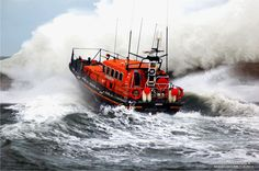 RNLI Lifeboats againts big wave