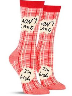 i don't care i'm high fun novelty socks by blue q