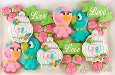 Love Bird Valentine Cookies by Semi Sweet Designs   @semisweetmike
